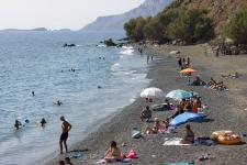 Plati Gialos beach is at a walking distance