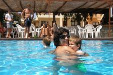 mother with child at Hotel ELIES pool